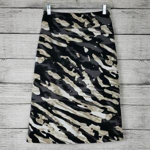 Sexy Tiger Stripe Midi Worthington Skirt